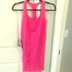 bebe Hot Pink Leopard Bodycon Mini Dress